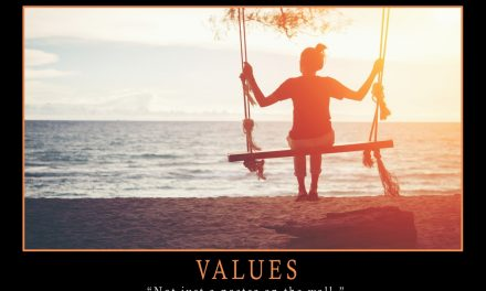 VALUES – NOT JUST A POSTER ON A WALL